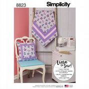 8823 Simplicity Pattern: Quilt and Cushion - Learn to Sew
